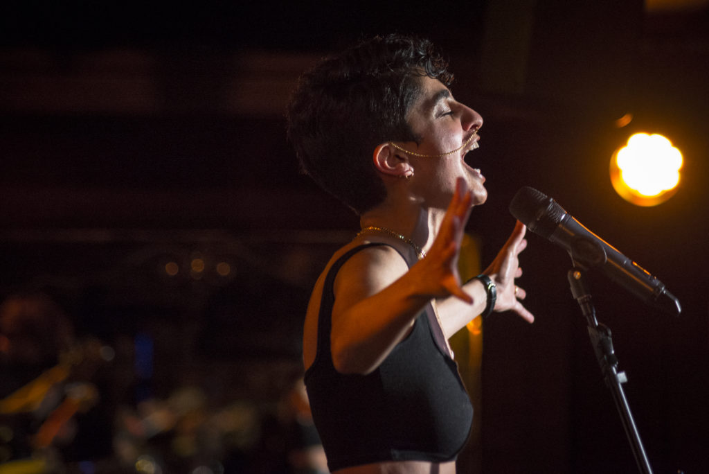 Juliana Yazbeck performing at LAAF 2019 launch. Photo by Jazamin Sinclair
